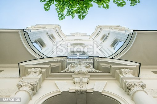istock beautiful old residential building facade 686709136
