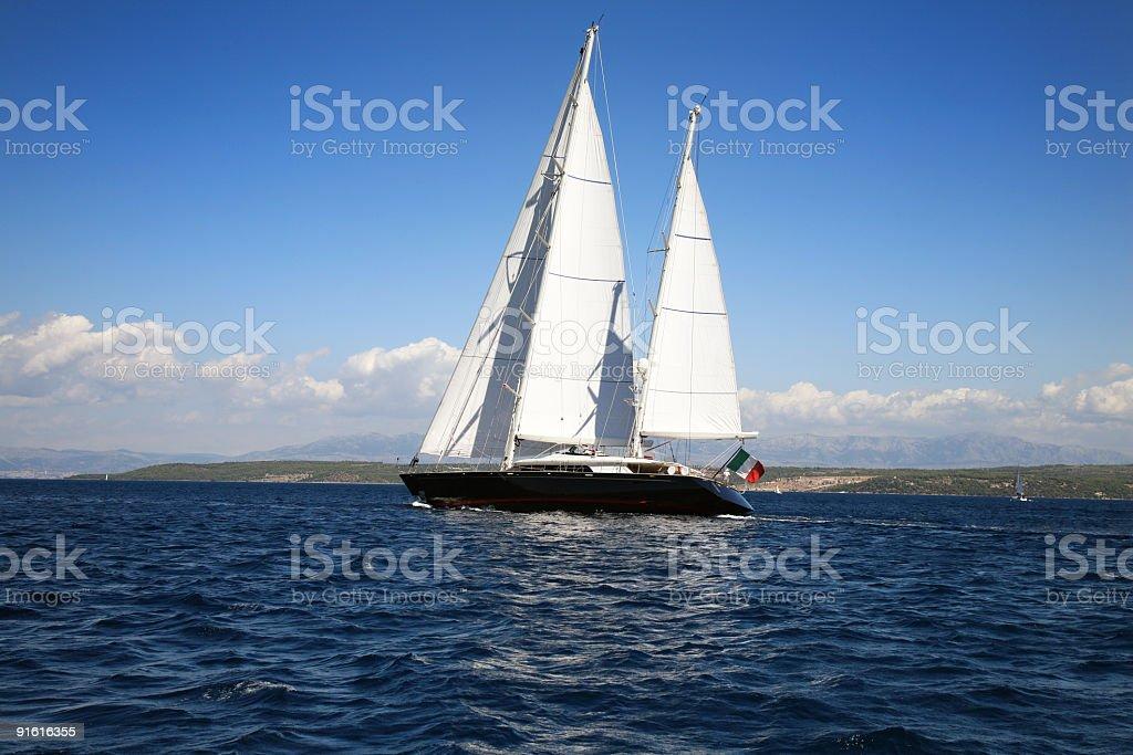 Beautiful old sailing boat royalty-free stock photo