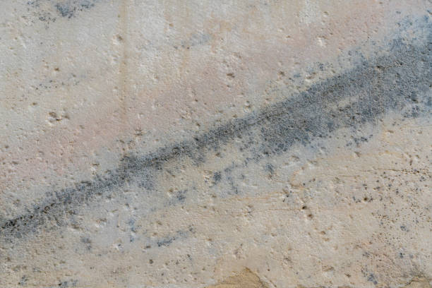 Beautiful old stone wall with crack and texture. stock photo