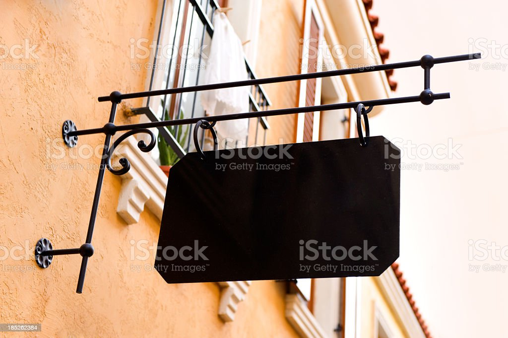 Beautiful old store sign with copyspace royalty-free stock photo