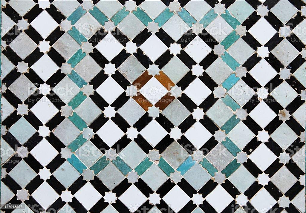 Bellissime vecchie piastrelle di meknes medina marocco fotografie