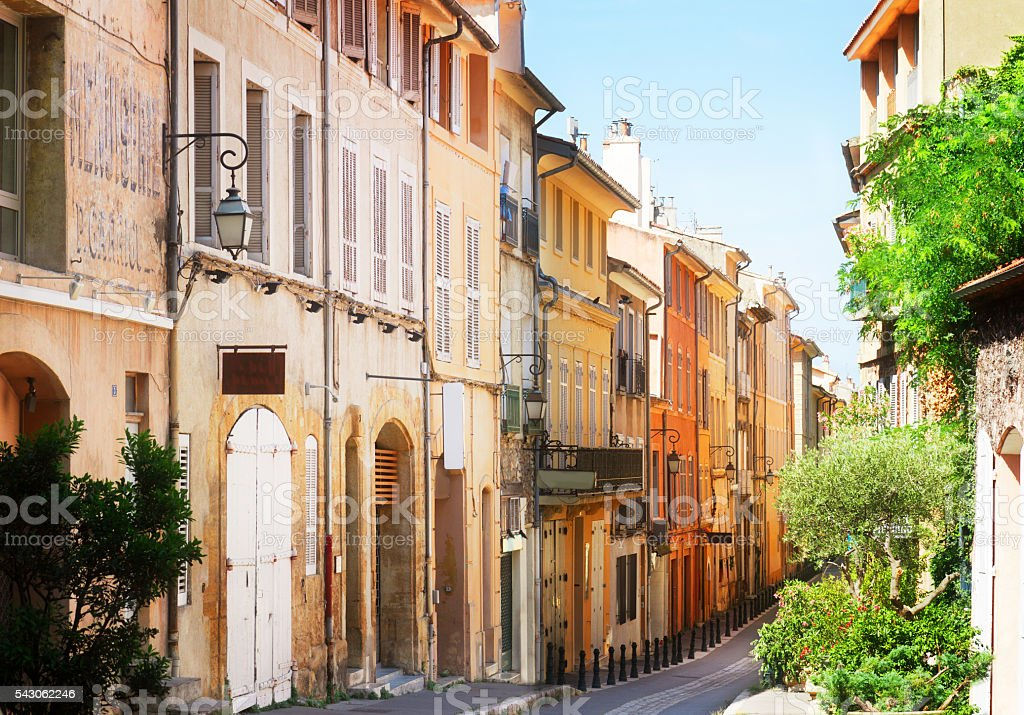 beautiful old town of Provence stock photo