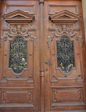 Beautiful old wooden door