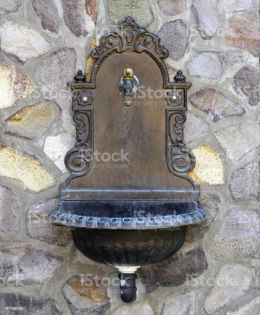 beautiful old-style fountain royalty-free stock photo