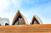 Tourists are enjoying Sydney Harbour and the Opera House scene at dusk in Sydney, Australia.