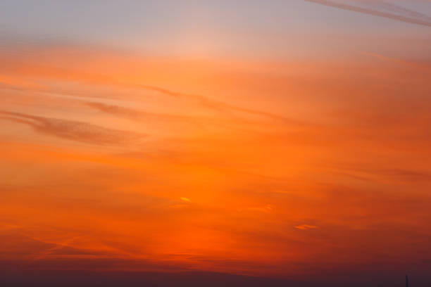 Beautiful orange sunset. The sky is ablaze with bright colors. Beautiful orange sunset. The sky is ablaze with bright colors. ablaze stock pictures, royalty-free photos & images