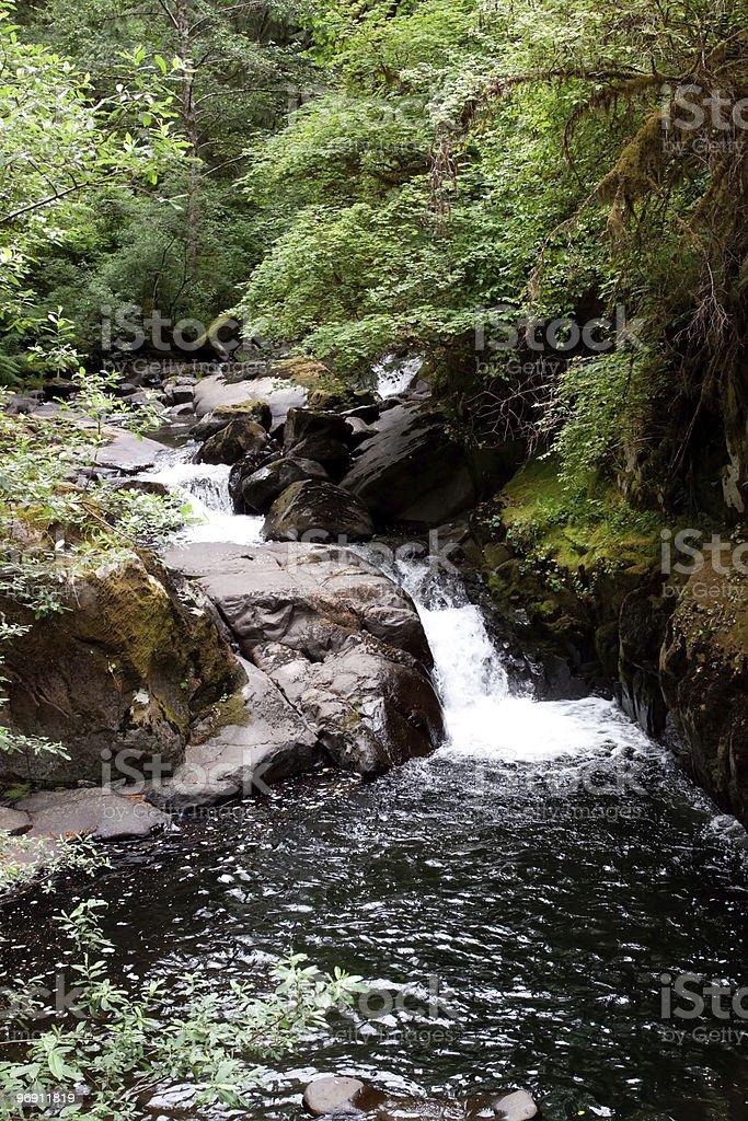 Beautiful Oregon waterfall royalty-free stock photo