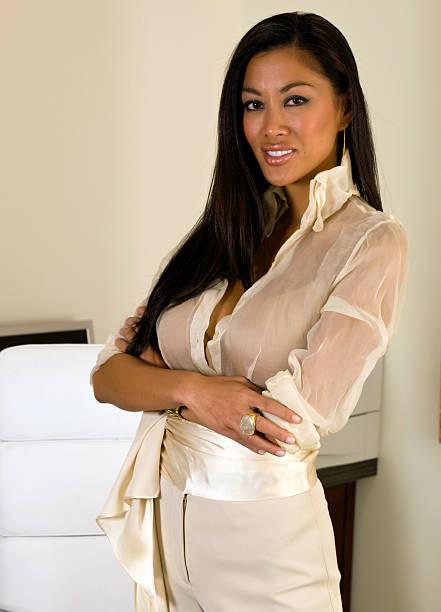Beautiful Oriental Business Lady stock photo