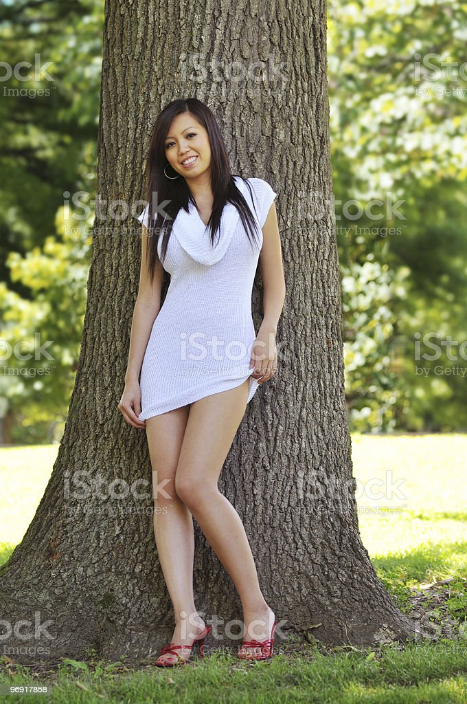 Beautiful oriental model royalty-free stock photo