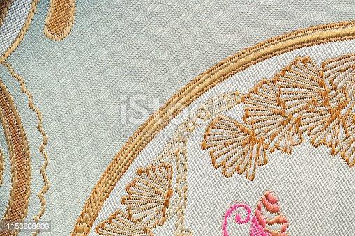 532522827 istock photo Beautiful Oriental motif, flower embroidery pattern 1153868606