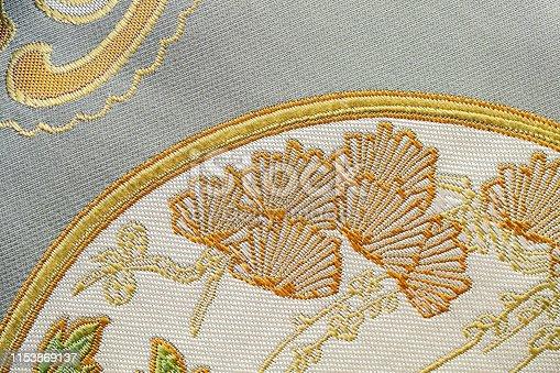 532522827 istock photo Beautiful Oriental motif, flower embroidery pattern 1153869137