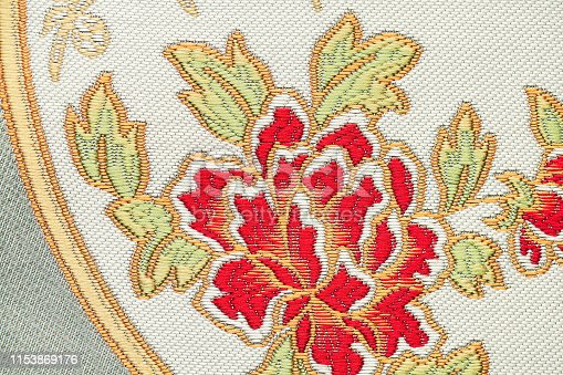 532522827 istock photo Beautiful Oriental motif, flower embroidery pattern 1153869176