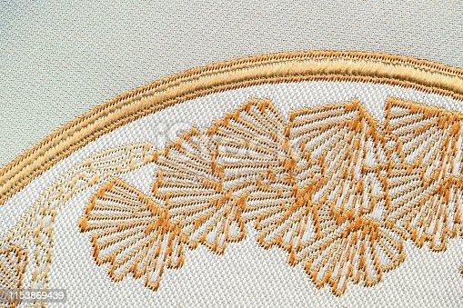 532522827 istock photo Beautiful Oriental motif, flower embroidery pattern 1153869439