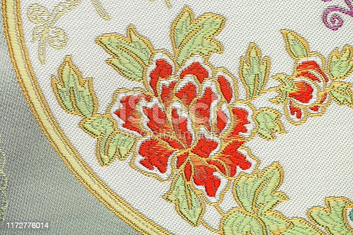 istock Beautiful Oriental motif, flower embroidery pattern 1172776014