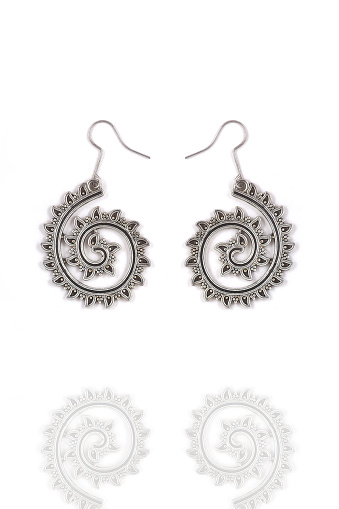 Beautiful Oriental Silver earrings jewelry (Indian, Arab, African, Egyptian), oxidised Silver earrings, Fashion Exotic Asian Accessories