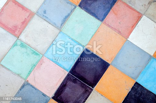 926058102 istock photo Beautiful ornament tiles in Marrakesh. Morocco. Architecture. Details. Attractions. 1161740045
