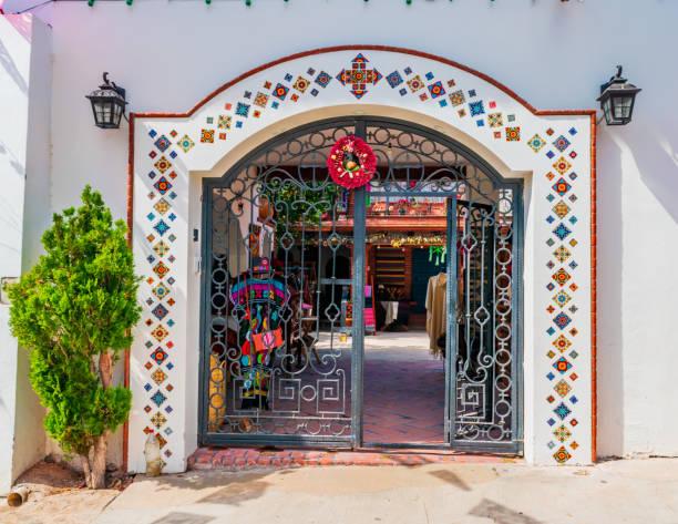 Beautiful ornamental entrance stock photo