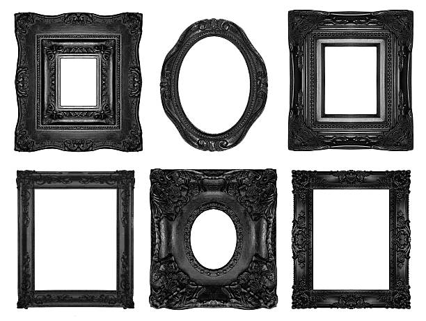 beautiful ornate frames - gothic style stock pictures, royalty-free photos & images