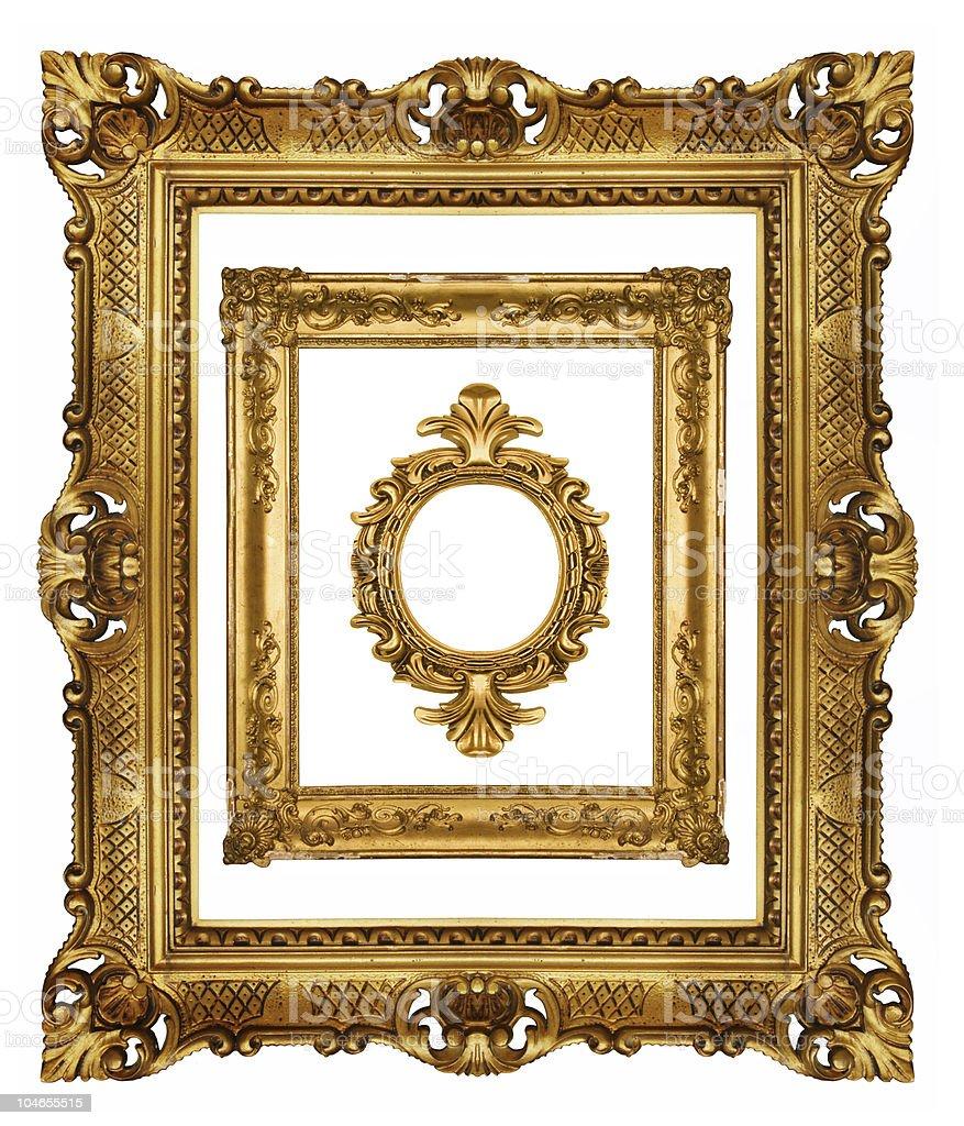 Beautiful ornate frames royalty-free stock photo