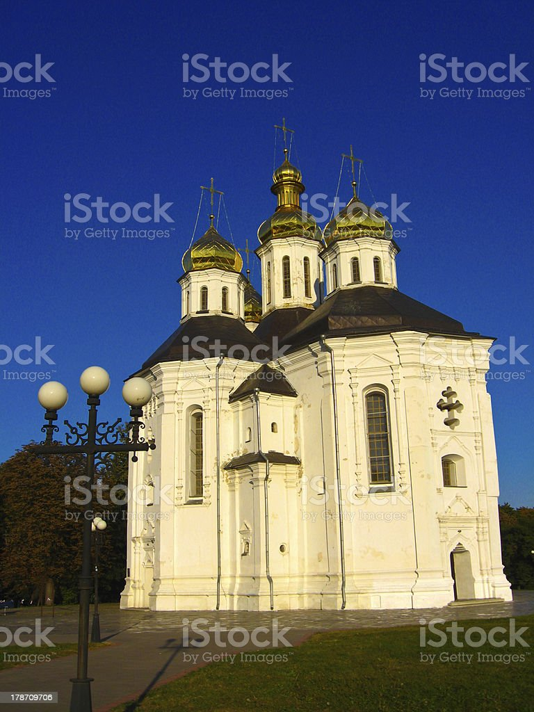 Beautiful orthodox church royalty-free stock photo