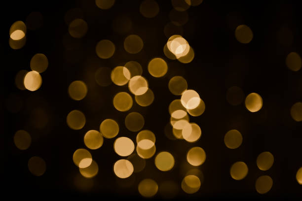 Beautiful Overlay bokeh light texture stock photo