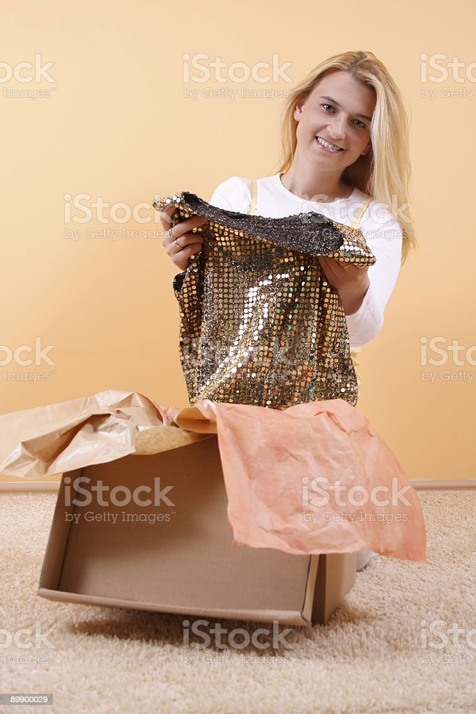 Beautiful package contents royalty-free stock photo