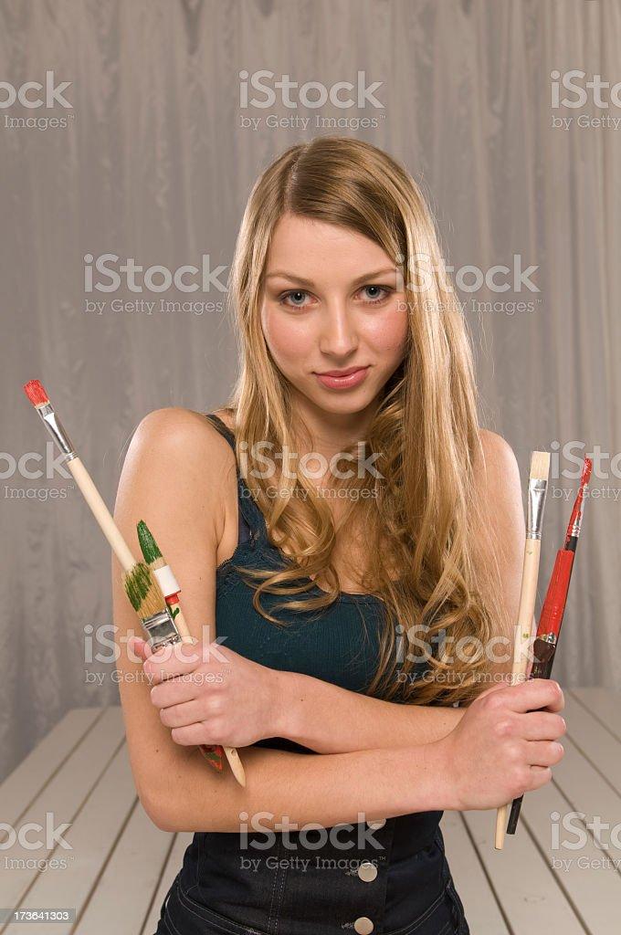 Beautiful painter royalty-free stock photo