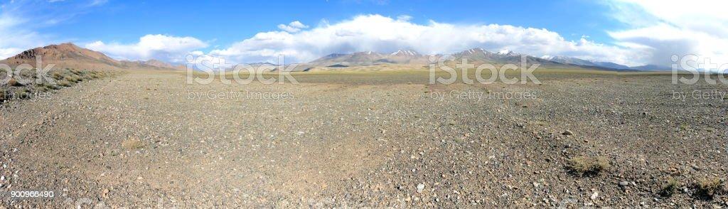 Beautiful Pamir Mountain Range, Tajikistan stock photo