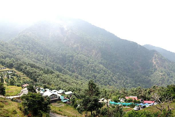 Beautiful Pangot Village stock photo