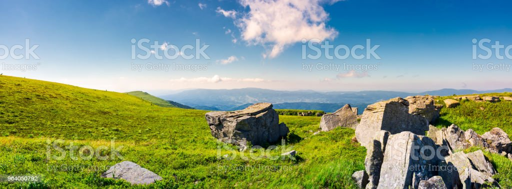 beautiful panorama of Runa mountain in summer - Royalty-free Beauty Stock Photo