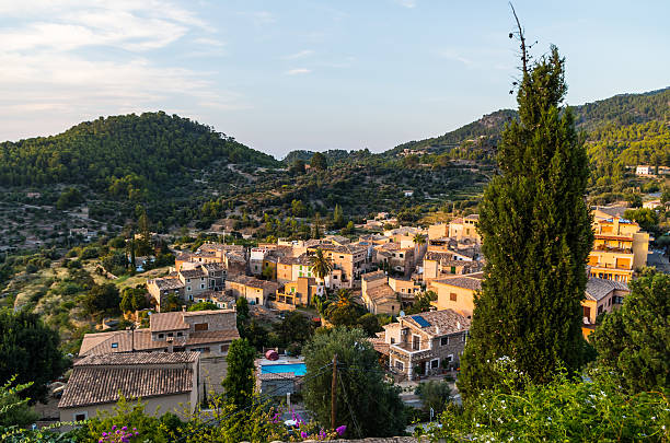 Beautiful panorama of the town Estellencs on Mallorca, Spain – Foto