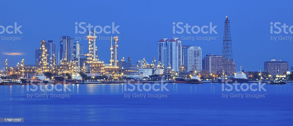 beautiful panorama scene of refinery industry  plant royalty-free stock photo