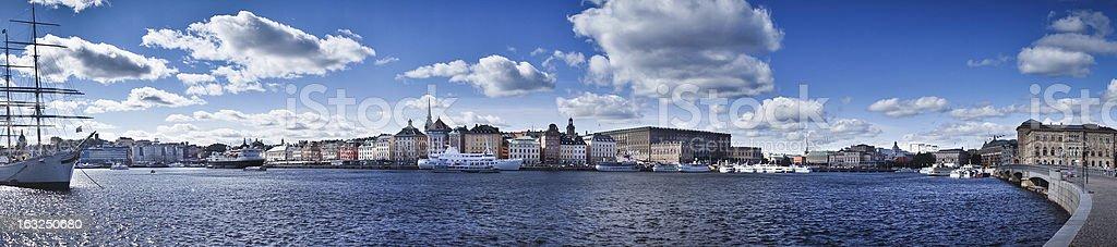 Beautiful panorama view of Gamla Stan, Stockholm, Sweden stock photo