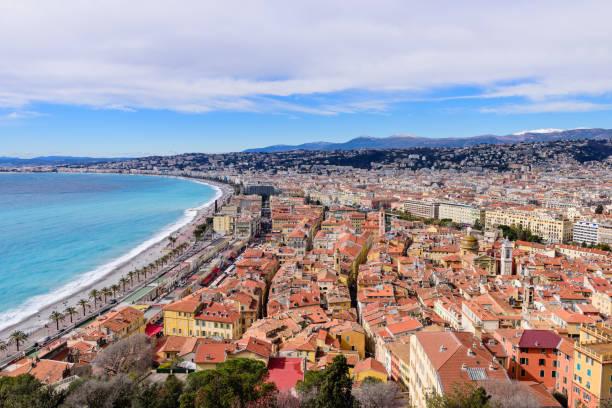 Schöne Panoramaaussicht Stadt Nizza, Frankreich – Foto