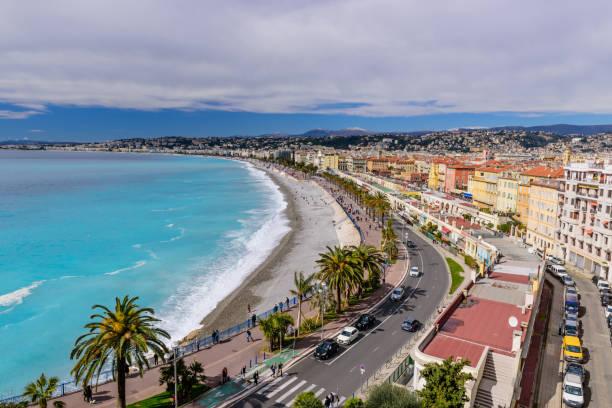 Schöne Panorama-Luftbild Stadt Nizza – Foto