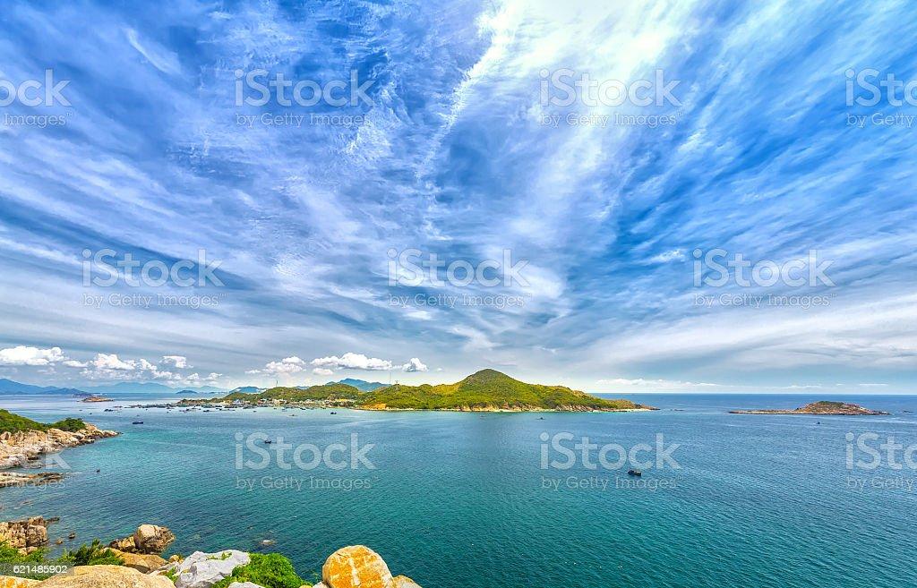 Beautiful panoramic landscape of Vietnam beach photo libre de droits