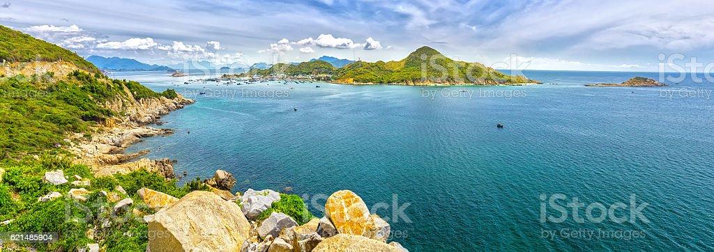 Beautiful panoramic landscape of Vietnam beach Lizenzfreies stock-foto