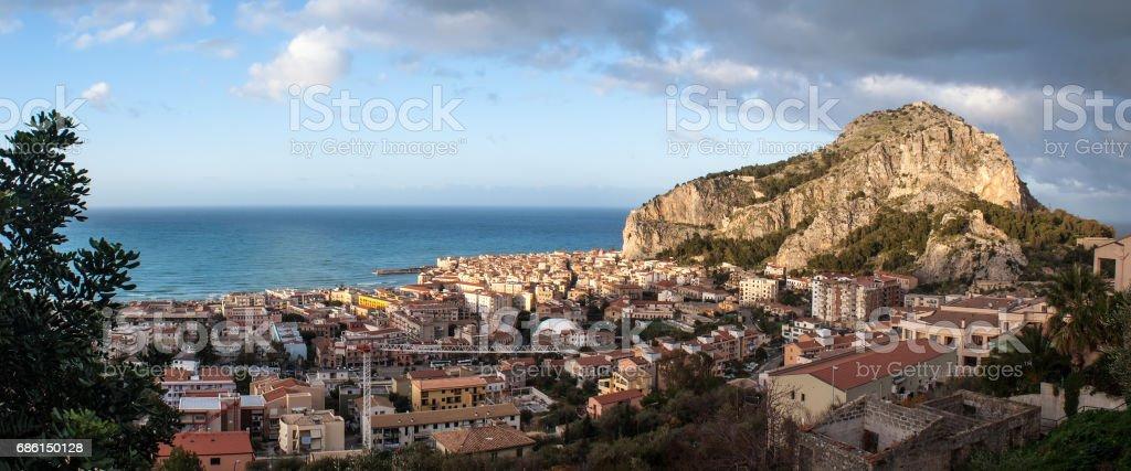 Beautiful panoramic view of Cefalu. Sicily - foto stock