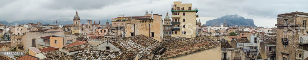 Beautiful panoramic view of Palermo, Sicily, Italy - foto stock