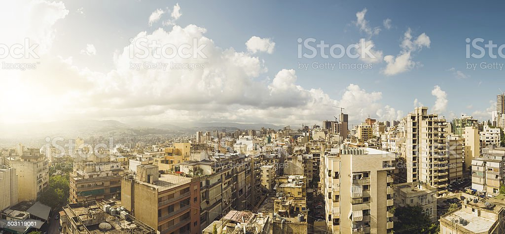 Beautiful panoramic view over Beirut stock photo