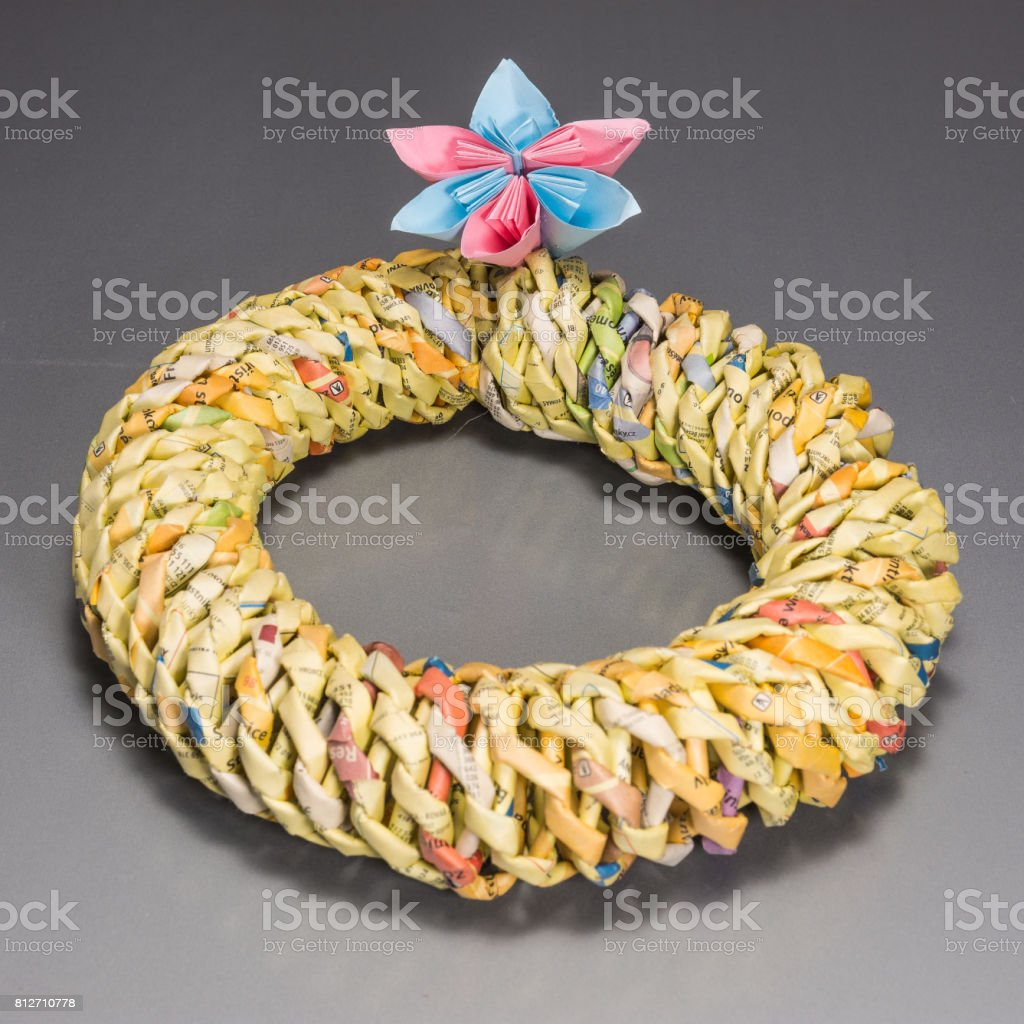 Beautiful paper decorations royalty-free stock photo