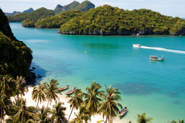 Beautiful paradise beach on AngThong National Park, Koh Samui, Thailand stock photo