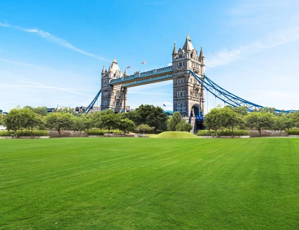 Beautiful park at a sunny day City, Summer, Public Park, Cityscape, Springtime tower bridge stock pictures, royalty-free photos & images