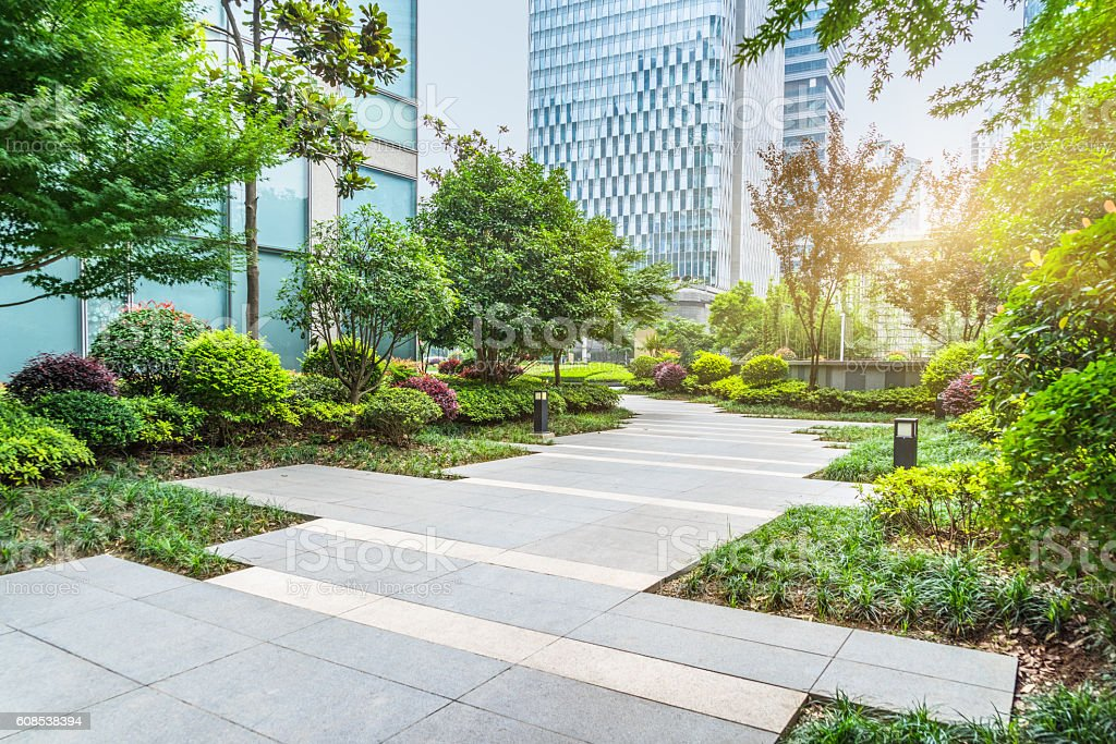 beautiful park at a sunny day royalty-free 스톡 사진