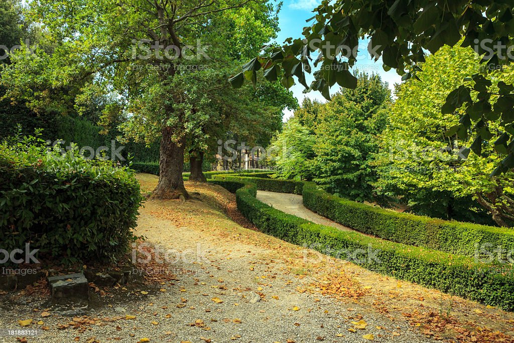 Beautiful park, Florence, Italy royalty-free stock photo