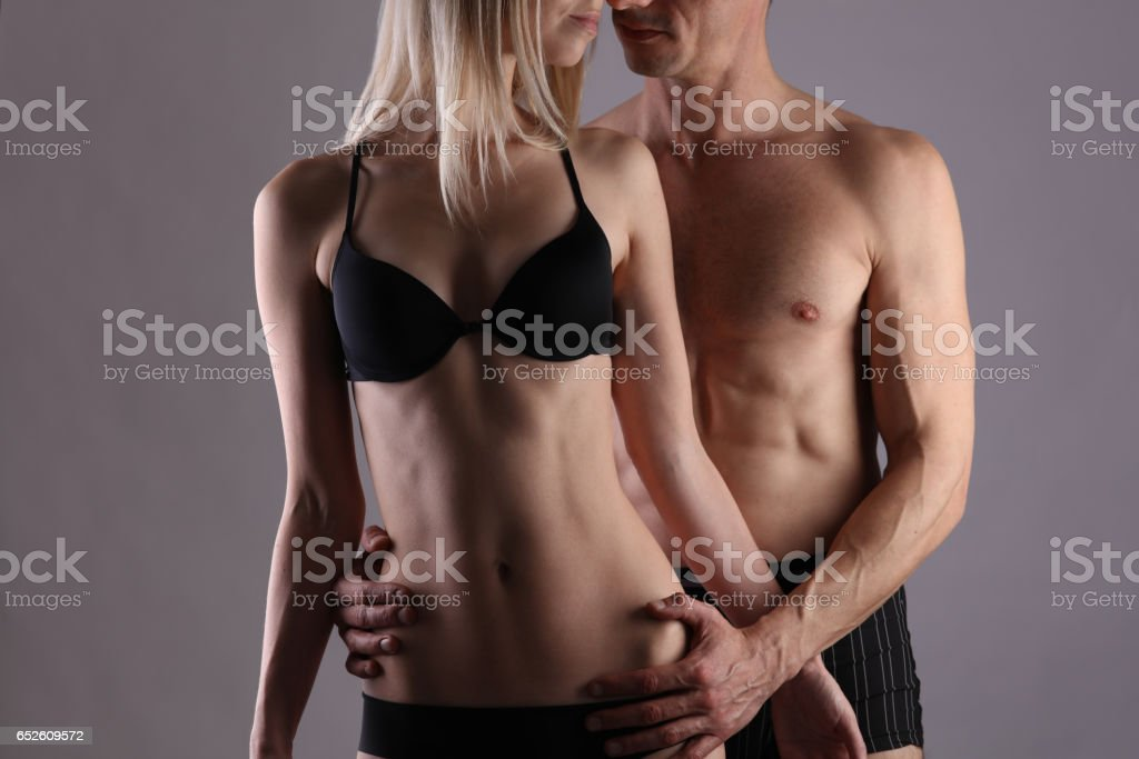 Beautiful Passionate Kissing Couple Love Sex Foreplay Concept Royalty Free Stock Photo