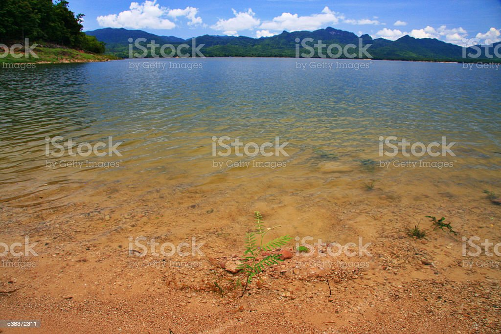 Beautiful peace lake stock photo
