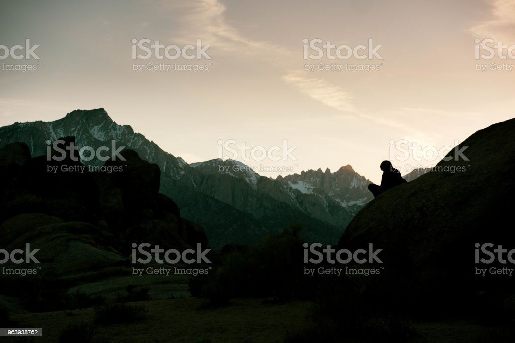 Beautiful peaceful sunset view at Mt Whitney - Royalty-free 8-9 Years Stock Photo