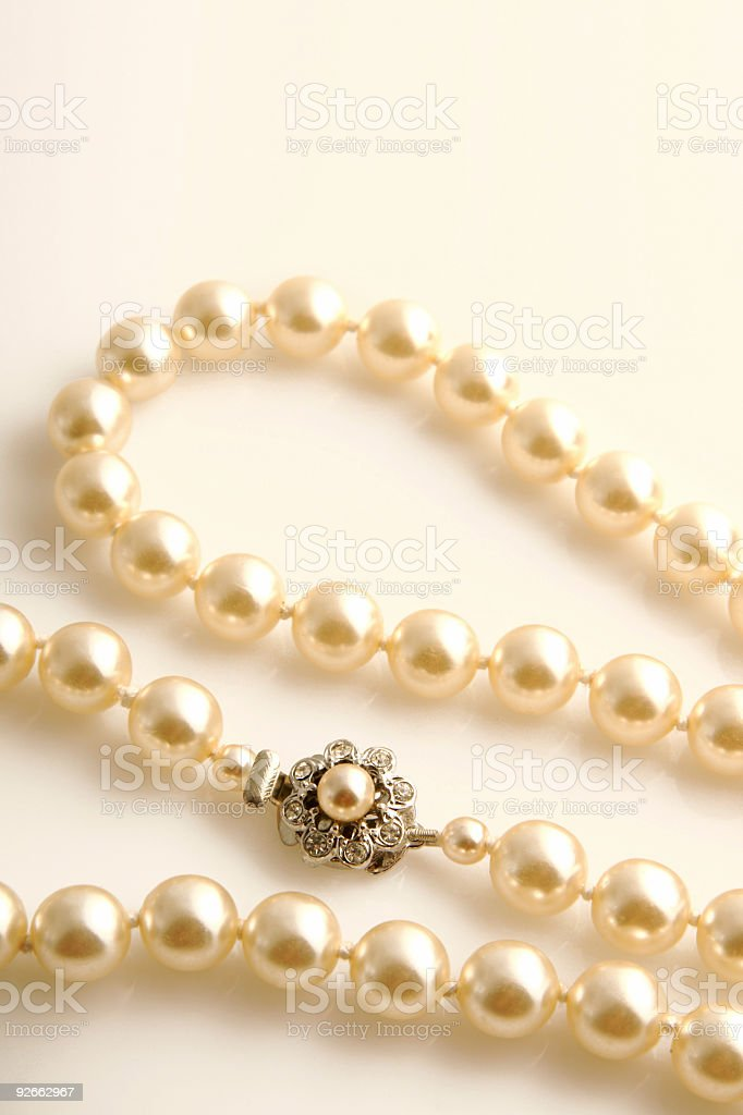 Beautiful Pearls royalty-free stock photo