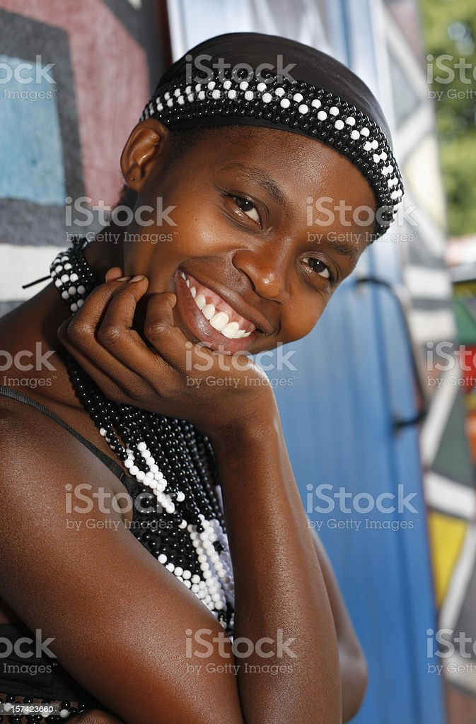 Beautiful Pedi woman of South Africa stock photo